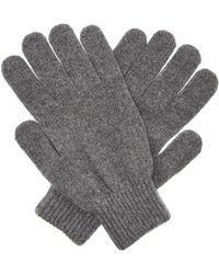 Paul Smith - Gants en maille de laine mérinos et cachemire - Lyst