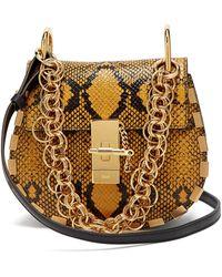 Chloé - Drew Bijou Mini Leather Cross Body Bag - Lyst
