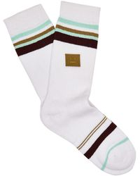 Acne Studios - Striped Cotton-blend Socks - Lyst
