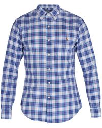 Polo Ralph Lauren - Button-down Collar Checked Cotton Shirt - Lyst