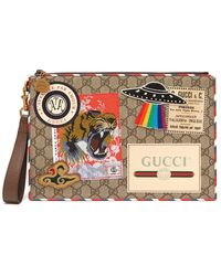 Gucci - Gg Supreme Patch Coated Canvas Pouch - Lyst