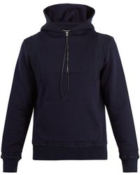 Alexander McQueen - - Seamed Hooded Zip Up Sweatshirt - Mens - Navy Multi - Lyst
