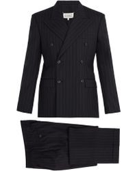 Maison Margiela - Pinstripe Double Breasted Suit - Lyst