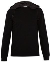 Valentino - Detachable-hood Wool Sweater - Lyst