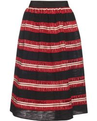 Jupe by Jackie | Striped Cotton-gauze Skirt | Lyst