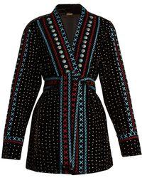 Dodo Bar Or - Siya Embellished Velvet Glitter Kimono - Lyst