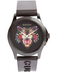 Gucci - Montre en pierre verte GG-Timeless - Lyst