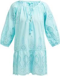 Melissa Odabash - Ashley Cotton Broderie Anglaise Mini Dress - Lyst