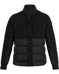 Moncler - Decroux Contrast-panel Quilted Down Coat - Lyst