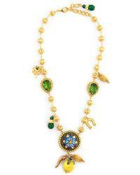 Dolce & Gabbana - Lemon And Charm Embellished Necklace - Lyst