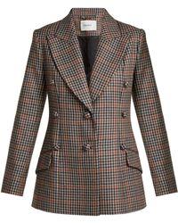 Erdem - Devon Single Breasted Check Wool Blazer - Lyst