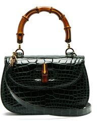 996e7ad3776 Gucci Cestino Bamboo-handle Wooden Basket Bag in Natural - Lyst