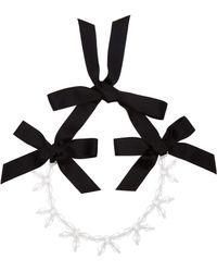 Simone Rocha - Crystal Bow Necklace - Lyst