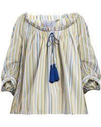 Thierry Colson - Evita Striped Cotton Top - Lyst