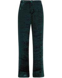 F.R.S For Restless Sleepers - Etere Devoré-velvet Trousers - Lyst