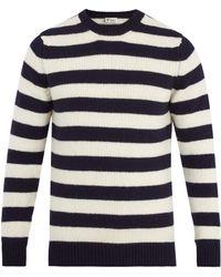 CONNOLLY - Striped Wool-blend Jumper - Lyst