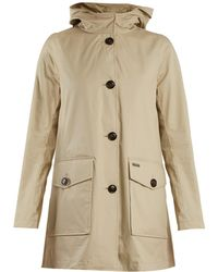 Woolrich - Lightweight Coated-cotton Hooded Coat - Lyst