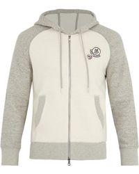 Moncler - Badge-appliqué Cotton-blend Hooded Jumper - Lyst