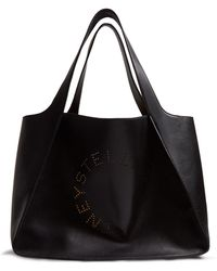 Stella McCartney - Stella Perforated-logo Faux-leather Tote - Lyst