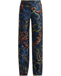 F.R.S For Restless Sleepers - Zelos Snake-print Silk Trousers - Lyst