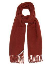 Acne Studios - - Canada Fringed Wool Scarf - Mens - Brown - Lyst