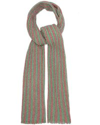 Missoni Metallic Striped Crochet Knit Shawl