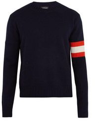 CALVIN KLEIN 205W39NYC - Contrast-sleeve Cashmere Jumper - Lyst