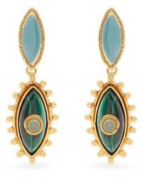 Sylvia Toledano - Evil Eye Gold-plated Clip-on Drop Earrings - Lyst