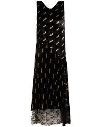 Aries - Logo-print Velvet Dress - Lyst