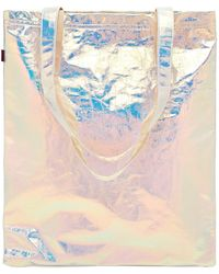 Sies Marjan - Farah Iridescent Crinkled-cotton Canvas Tote - Lyst