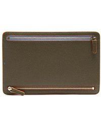Smythson - Burlington Grained-leather Currency Wallet - Lyst