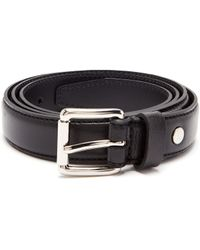 AMI - Thin Leather Belt - Lyst