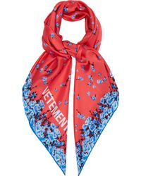 Vetements - Floral Print Silk Scarf - Lyst