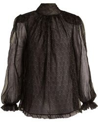 Maria Lucia Hohan - Baqa Printed Silk Mousseline Blouse - Lyst