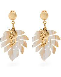 Oscar de la Renta - Bead-embellished Tassel-drop Earrings - Lyst