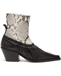JOSEPH - Albias Leather Ankle Boots - Lyst