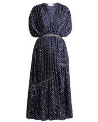 Gabriela Hearst - Winston Polka-dot Ruched Silk-twill Dress - Lyst