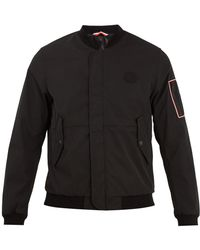 Moncler - Jerry Logo Appliqué Gabardine Bomber Jacket - Lyst