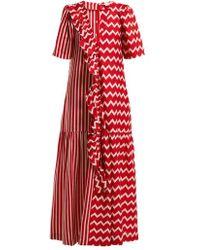 Stella McCartney - Gabrielle Zigzag Print Maxi Dress - Lyst