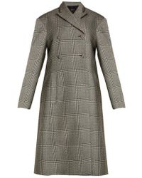 Ellery - Bel Air Checked Double-breasted Coat - Lyst