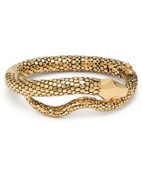 Aurelie Bidermann - Gold Plated Tao Snake Bracelet - Lyst