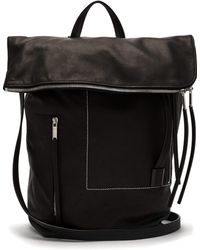 Rick Owens - Zipped Leather Duffle Bag - Lyst