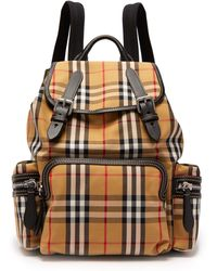 a5f894091f8f Lyst - Burberry Medium Canvas Check Overdye Chiltern Backpack in Red