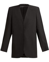 Lemaire - Wool Barathea Suit Jacket - Lyst