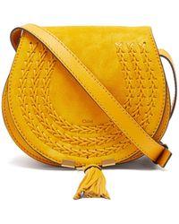 Chloé - Marcie Mini Suede Cross-body Bag - Lyst