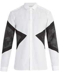 Neil Barrett - Camouflage Cotton Shirt - Lyst