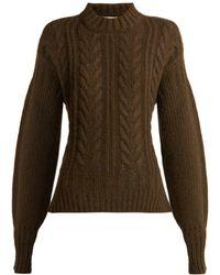 Cecile Bahnsen - Sol Open Back Wool Blend Sweater - Lyst