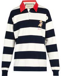 Gucci - Polo de rugby rayé en coton - Lyst