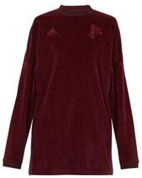 adidas Originals - Long-sleeve Velvet Sweater - Lyst