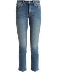 M.i.h Jeans - Nikki High Rise Slim Leg Cropped Jeans - Lyst